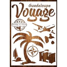 Pochoir A4 en plastique Mylar Voyage Guadeloupe