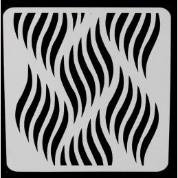 POCHOIR PLASTIQUE 13*13cm : vague (03)