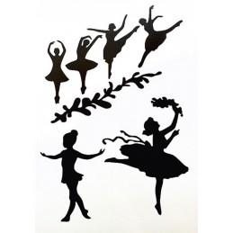 POCHOIR PLASTIQUE 30*21cm : danseuses (04)