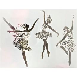 POCHOIR PLASTIQUE 30*21cm : danseuses (03)