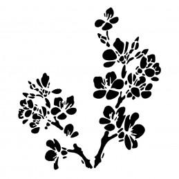 POCHOIR PLASTIQUE 13*13cm : fleur de cerisier