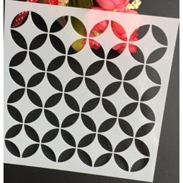 POCHOIR PLASTIQUE 13*13cm : motif géométri (11)