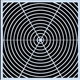 POCHOIR PLASTIQUE 13*13cm : motif géométrie (07)