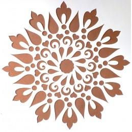 POCHOIR PLASTIQUE 20*20cm : motif fleur (11)