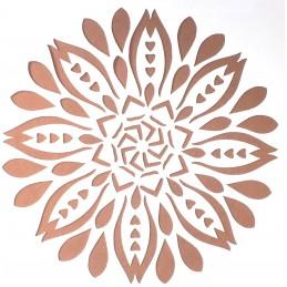 POCHOIR PLASTIQUE 20*20cm : motif fleur (12)