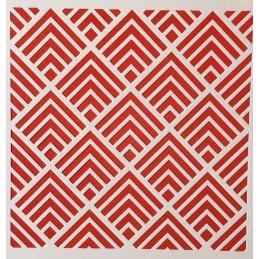 POCHOIR PLASTIQUE 20*20cm : motif géométrie (12)