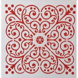 POCHOIR PLASTIQUE 20*20cm : motif antique (39)