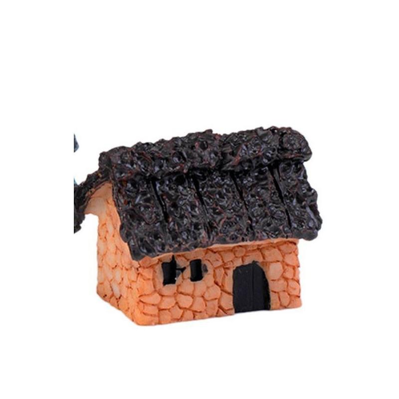 MINIATURE EN RESINE : maison campagne longueur 3cm (n°007)