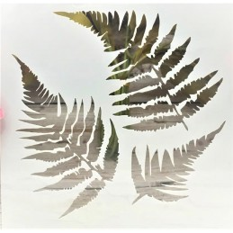 POCHOIR PLASTIQUE 13*13cm : feuilles (05)