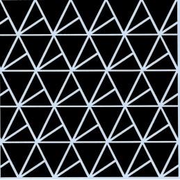 POCHOIR PLASTIQUE 13*13cm : motif géométrie (01)