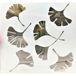 POCHOIR PLASTIQUE 13*13cm : feuilles (04)