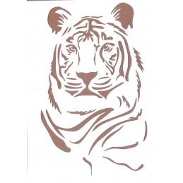 POCHOIR PLASTIQUE 30*21cm : tigre (02)