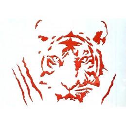 POCHOIR PLASTIQUE 26*18cm : tigre (03)