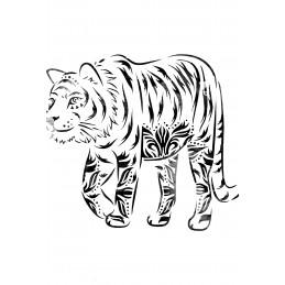 POCHOIR PLASTIQUE 30*21cm : tigre (04)