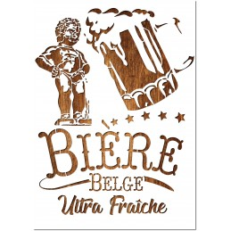 Pochoir A4 en plastique Mylar Bière belge