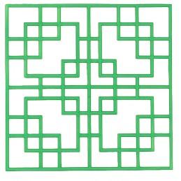 POCHOIR PLASTIQUE 20*20cm : motif fantaisie (89)