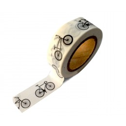Ruban Washi 15 mm x 10 m bicyclettes