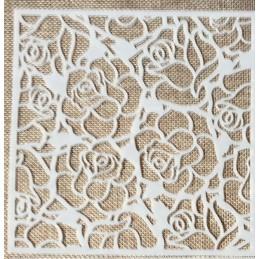 POCHOIR PLASTIQUE 15*15cm : motif fleur (14)