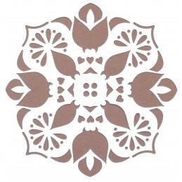 POCHOIR PLASTIQUE 13*13cm : motif fleur (09)