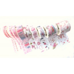 Pack de 10 Rubans Washi  Love Ladies