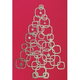 Découpe à suspendre Sapin de Noel moderne en cardstock glitter argen 300 gr