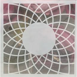POCHOIR PLASTIQUE 13*13m : motif fantaisie (92)