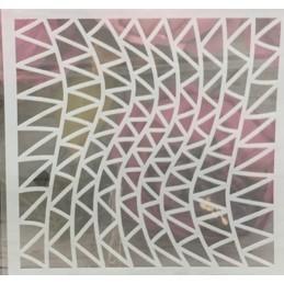 POCHOIR PLASTIQUE 13*13cm : motif fantaisie (93)