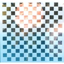 POCHOIR PLASTIQUE 13*13cm : motif géométrie (15)