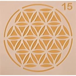 POCHOIR PLASTIQUE 13*13cm : motif fantaisie (44)