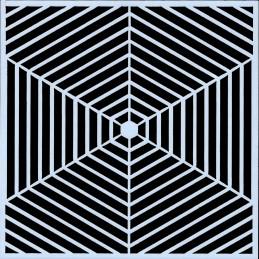 POCHOIR PLASTIQUE 13*13cm : motif géométrie (09)