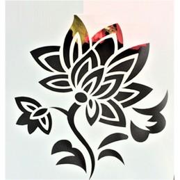 POCHOIR PLASTIQUE 13*13cm : fleur (54)