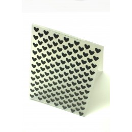 Classeur d'embossage en plastique motif rangée de coeur format  14.5*10.6*0.3 cm