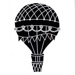 POCHOIR PLASTIQUE 13*13cm : montgolfière (02)