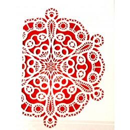 POCHOIR PLASTIQUE 30*21cm : motif oriental (03)