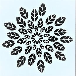 POCHOIR PLASTIQUE 13*13cm : feuilles (07)