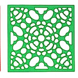 POCHOIR PLASTIQUE 20*20cm : motif fantaisie (98)