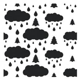 POCHOIR PLASTIQUE 13*13cm : nuage pluvieux