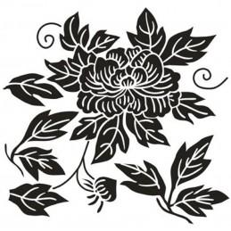 POCHOIR PLASTIQUE 13*13cm : fleur (56)