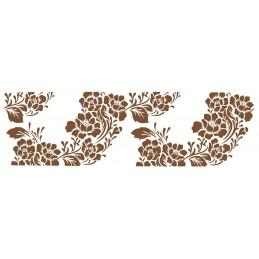 POCHOIR PLASTIQUE 35*12cm : bordure fleur (09)