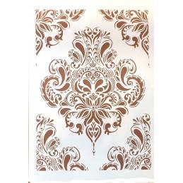 POCHOIR PLASTIQUE 30*21cm : motif antique (42)