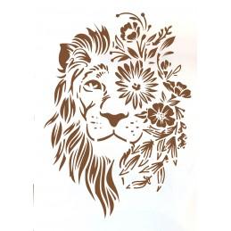POCHOIR PLASTIQUE 30*21cm : lion (02)
