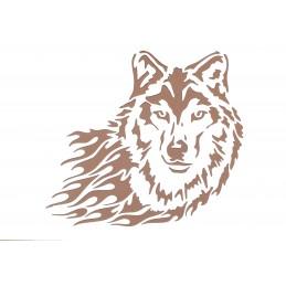 POCHOIR PLASTIQUE 30*21cm : loup (02)