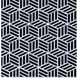 POCHOIR PLASTIQUE 13*13m : motif géométrie (03)