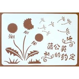 POCHOIR PLASTIQUE 26*18cm : fleurs (59)