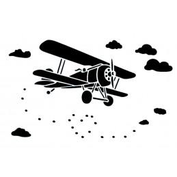 POCHOIR PLASTIQUE 30*21cm : aéroplane