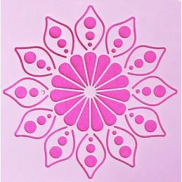 POCHOIR PLASTIQUE 13*13cm : motif fleur (16)