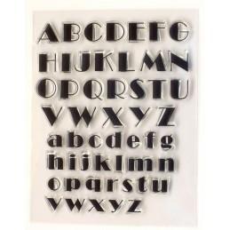 Alphabet tampon lettres majuscule minuscule  17 et 13 mm