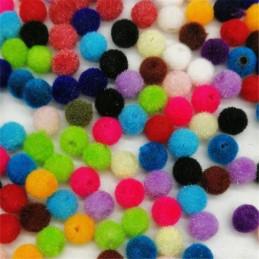 LOT 50 PERLES ACRYLIQUES : rondes velours couleurs 6mm