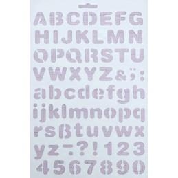 POCHOIR PLASTIQUE 30*21cm : Alphabet (13)