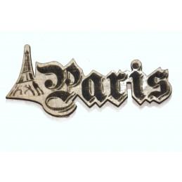 Paris Découpe  laser sur bois balsa 2 mm typographie Germanica 50 mm